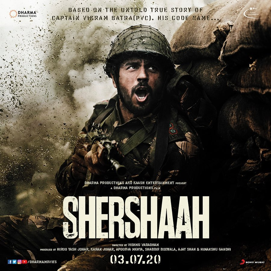 Shershaah Movie (2020) Cast, Release Date, Budget