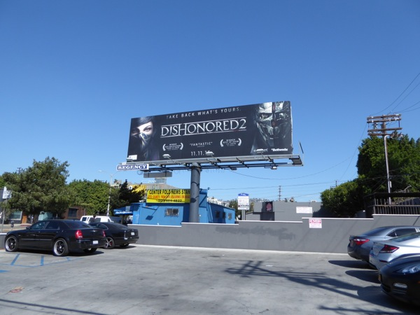 Dishonored 2 game billboard
