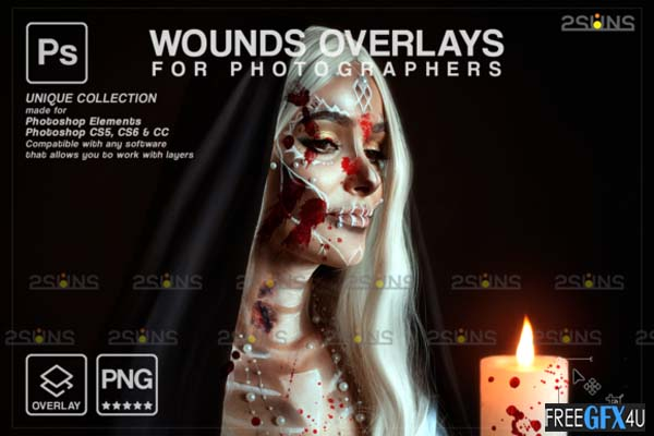 Blood Wounds and Scars Overlays