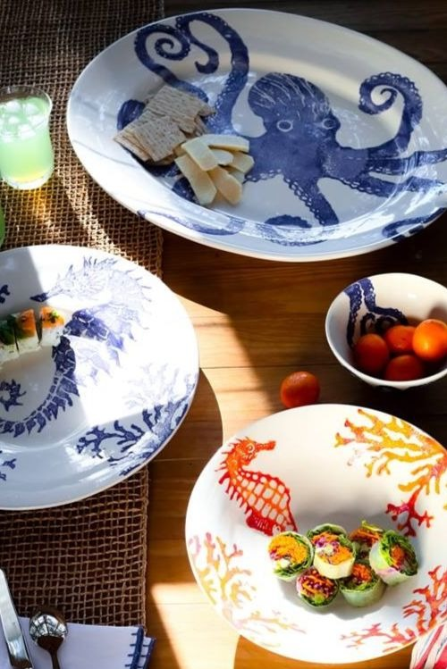 Handpainted Coastal Tableware by Vietri Made in Italy