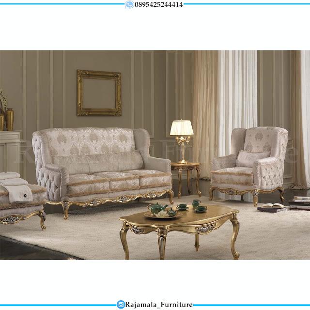 Sofa Tamu Mewah Jepara Luxury Classic Gold Leaf Color RM-0380