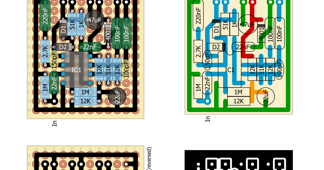 Perf And Pcb Effects Layouts Run Off Groove Tube Reamer