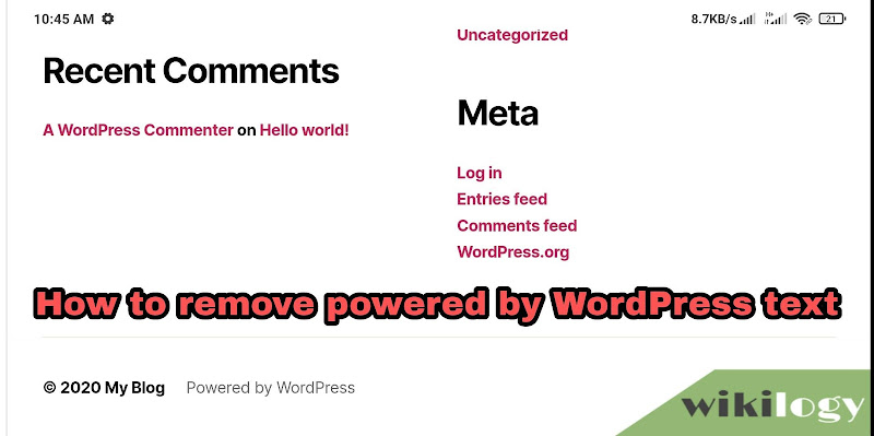 How To Remove Powered by WordPress  Footer Text