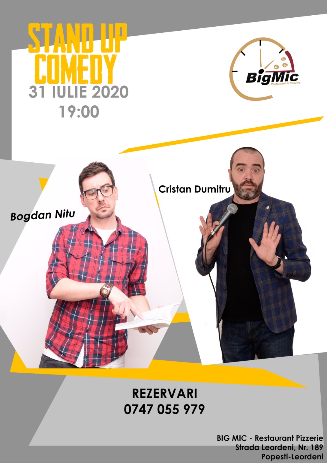 Stand-Up Comedy Vineri, 31 Iulie 2020