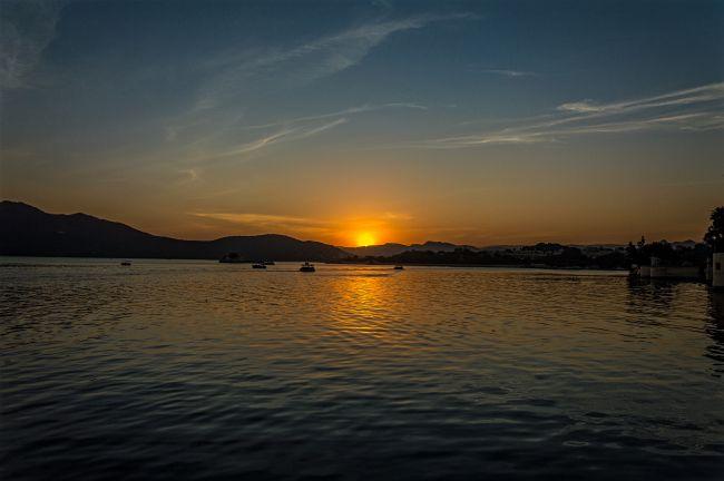 Sunset at Ambrai Ghat