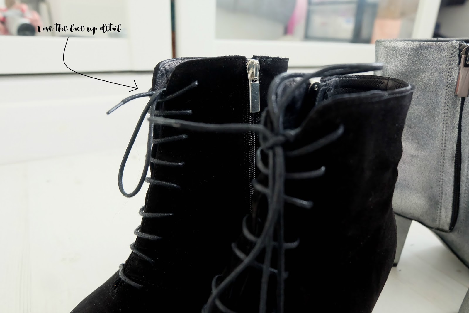 zalando iconics black suede lace up boots