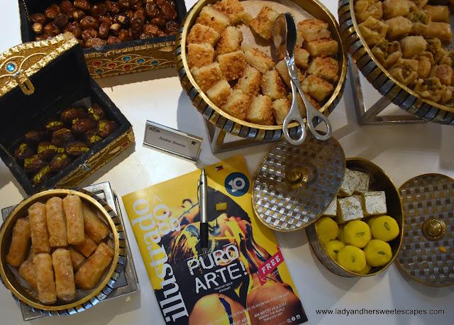 Arabic Sweets in JW Marriott Dubai brunch