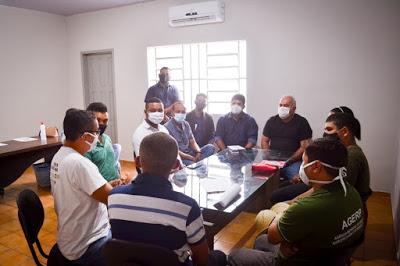 AÇÃO - Prefeito Kedson Lima se reúne com equipe da Agerp para firmar parcerias em Aldeias Altas