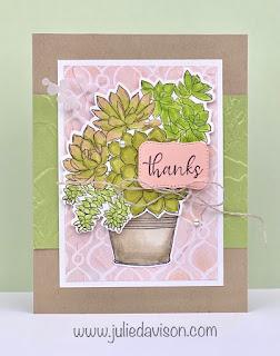 Stampin' Up! Sneak Peek: Simply Succulents Thank You Card ~ January-June 2021 Mini Catalog ~ www.juliedavison.com #stampinup