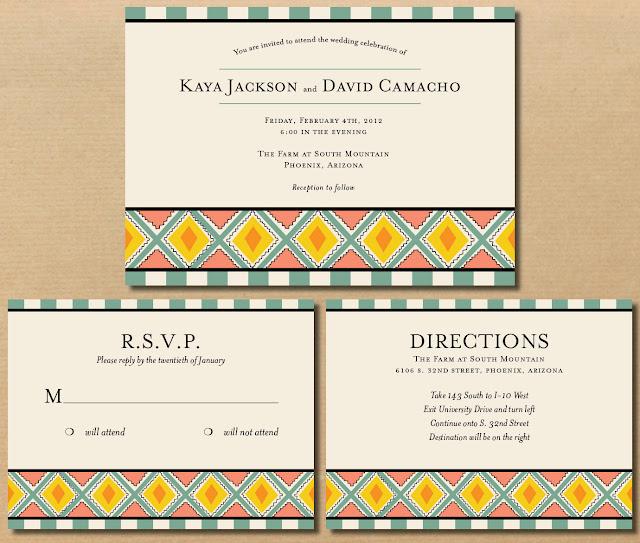 Native American Wedding Invitations: River & Bridge: Native-american Influenced Wedding Invitations