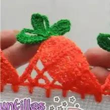 Puntilla Zanahorias a Crochet