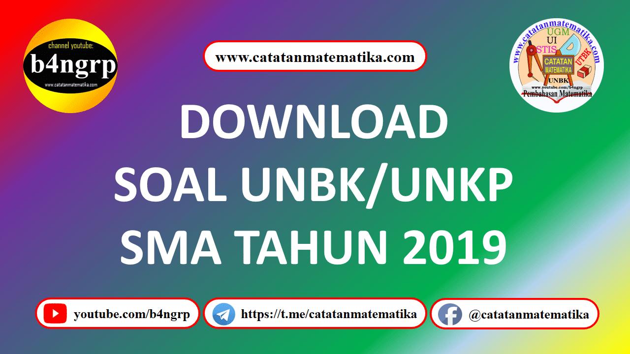 Download Soal UNBK SMA 2019