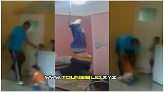 ( بالفيديو و الصور )صفاقس طريق سيدي منصور... اب يقوم بتعذيب و بضرب أبنائه بوحشية و بحرقهم بنار في اجسامهم...