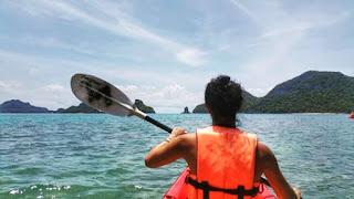 Kayaking, Angthon Marine Park, Thailand