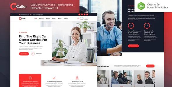 Best Call Center Service & Telemarketing Elementor Template Kit