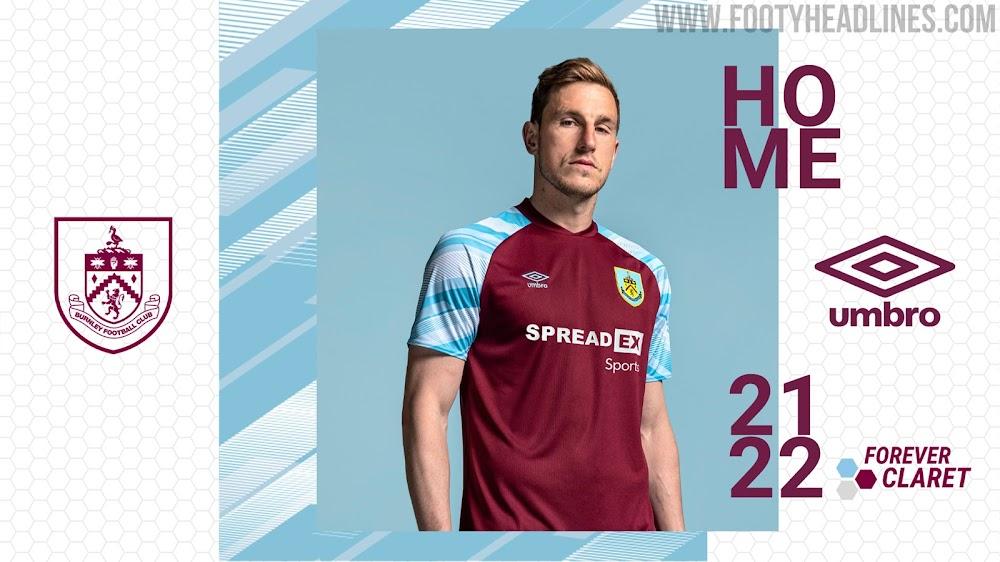 Burnley 21-22 Home Kit Released - Footy Headlines
