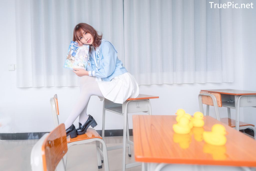 Image-MTCos-喵糖映画-Vol.009–Little-Yellow-Duck-and-White-Silk-TruePic.net- Picture-5
