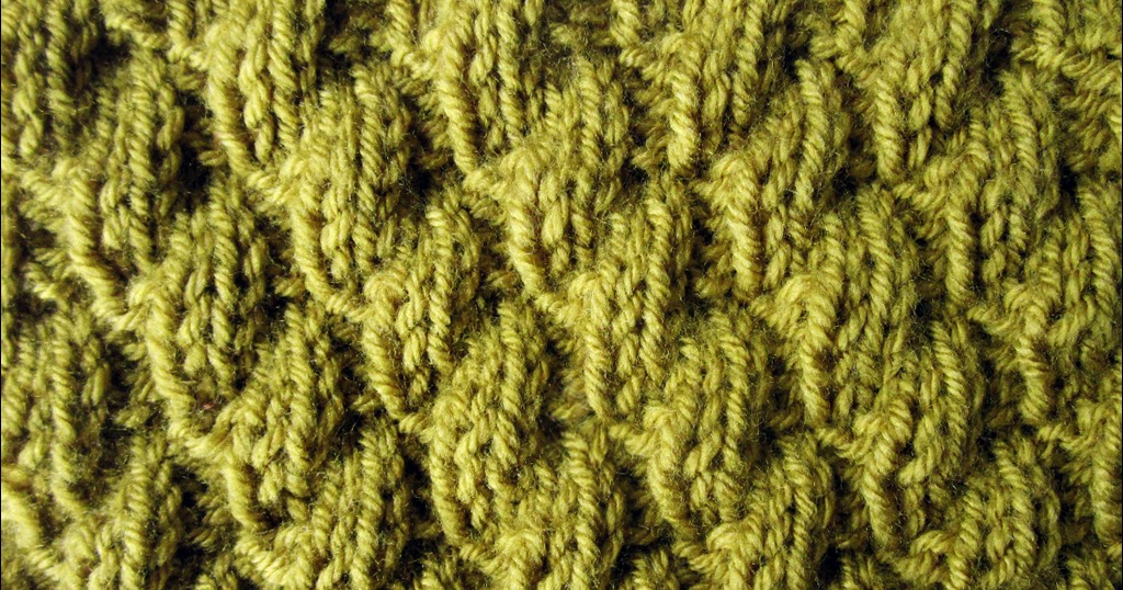 Knit Two Purl Two Pattern : Knit-Purl Combinations: Pattern 6 - Diagonal Stitch 2 - Knitting Unlimited