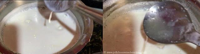 boil milk and lemon juice