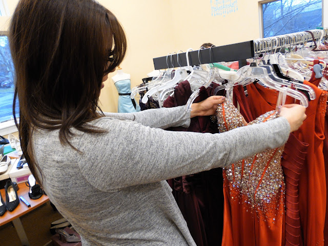 Free prom dresses for teen girls at Project Self-Sufficiency