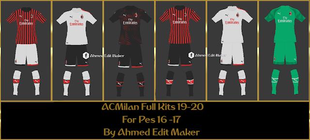 ACMilan Full Kits 19-20 For Pes 16 -17 By Ahmed Edit Maker