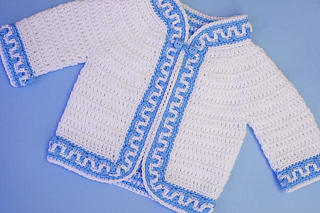 3 - Crochet Imagen Chaqueta a crochet ribeteada con puntada mosaico por Majovel Crochet
