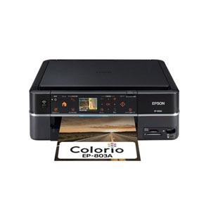 Epson Colorio EP-803Aドライバーダウンロード