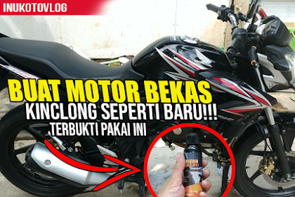 Tips Cara mengkilapkan body motor warna hitam yang kusam agar seperti baru