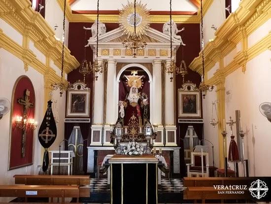 Horario e itinerario Rosario de la Aurora de Nuestra Señora del Mayor Dolor. San Fernando 02 de Octubre del 2021