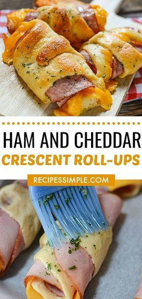Ham and Cheddar Crescent Roll-Ups #recipes #dinnerideas #foodideas #foodideasfordinnereasy #food #foodporn #healthy #yummy #instafood #foodie #delicious #dinner #breakfast #dessert #lunch #vegan #cake #eatclean #homemade #diet #healthyfood #cleaneating #foodstagram