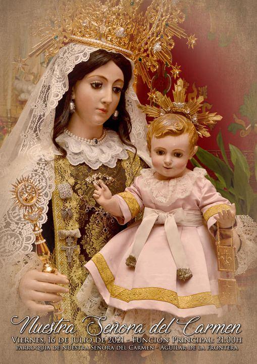 Cartel de Nuestra Señora del Carmen de Aguilar de la Frontera 2021