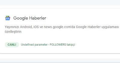 Masalah Undefined parameter dan Followers Google News Hilang
