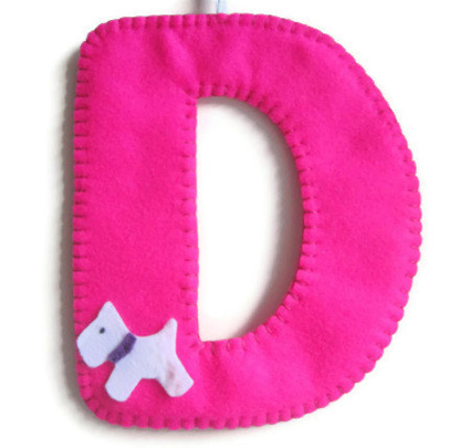 felt initial decoration