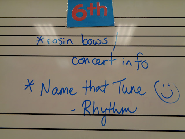 Name that Tune orchestra lesson plan--concert prep