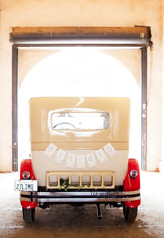 vintage wedding cars, Great Gatsby wedding