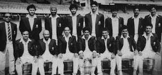 ICC Cricket World Cup 1975 Winner team India nice group photo