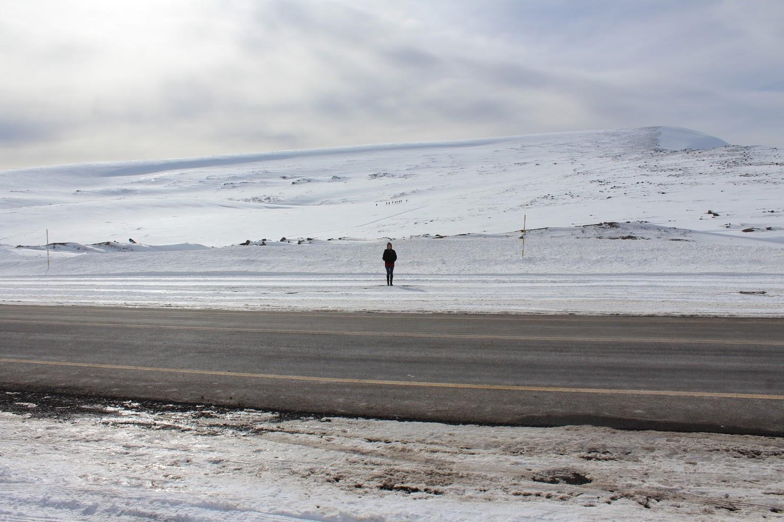 la nieve y el paso