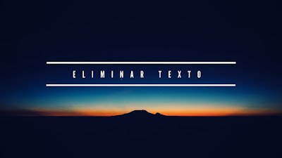 ELIMINAR TEXTO EN PHOTOSHOP CS6