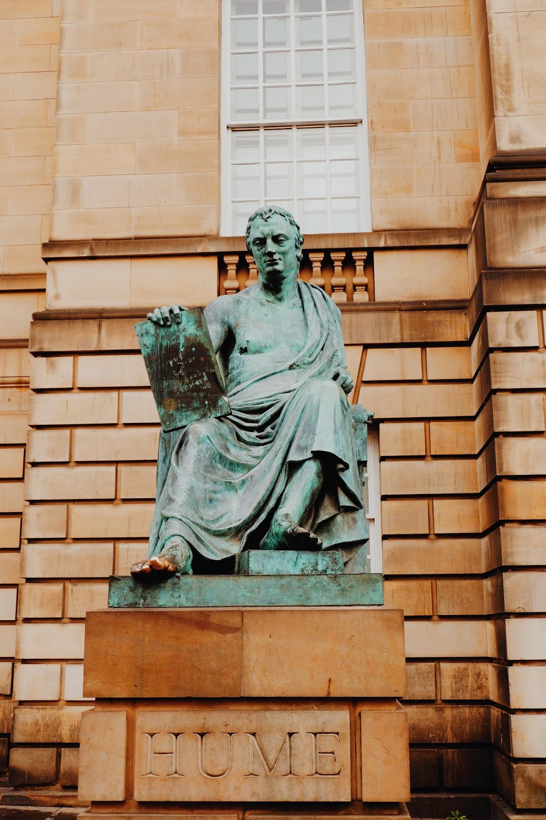 David Hume Statue on the Royal Mile