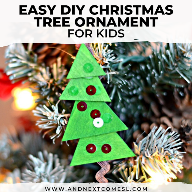 Easy homemade Christmas tree ornaments for kids