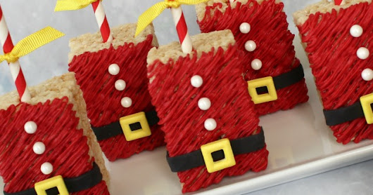 Santa Rice Krispie Treat!