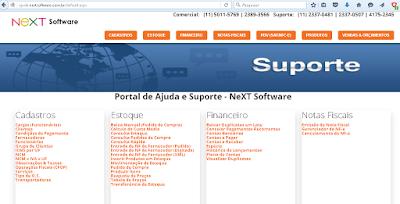 Ajuda e Suporte - NeXT Software