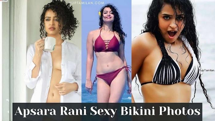 Apsara Rani Sexiest Bikini Photos-Hot Cleavage and Navel Images