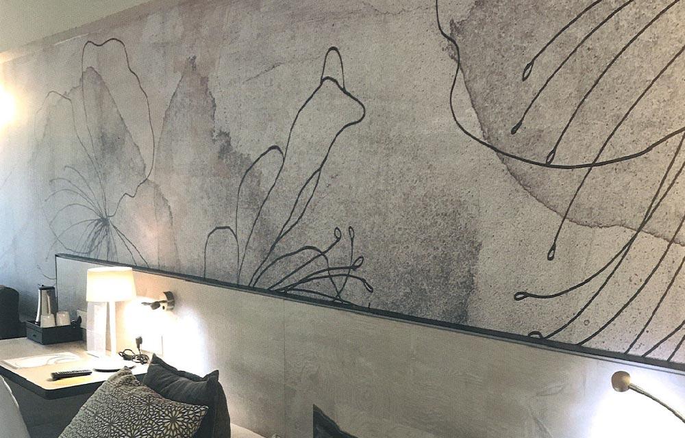 carta da parati Urban Flowers Wallpaper 07a - Collezione Contemporary Design