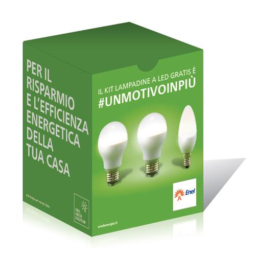 promo risparmio richiedi il kit di lampadine a led in regalo