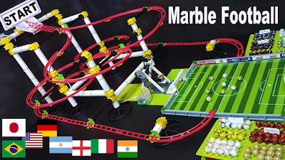 Marble Soccer Tournament: 16 Football teams - Marble race Sports Football Tournament - carrera de canicas