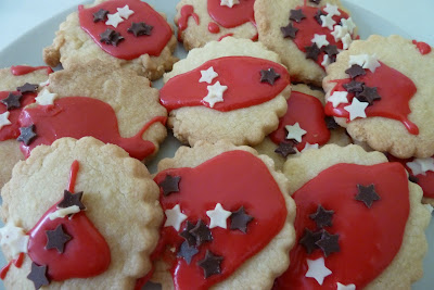 Child decorated biscuits