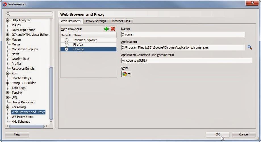 Richard Olrichs: Start an incognito browser from JDeveloper