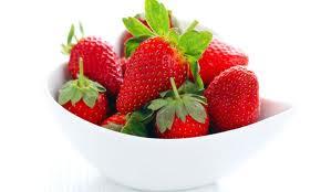 Bol con fresas