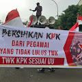 Aksi Demo Digelar Patriot Penegak Pancasila Tuntut KPK Bersihkan Pegawai Yang Tidak Lulus TWK